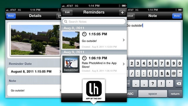PhotoMind Sets Image-Based Reminders on Your iPhone
