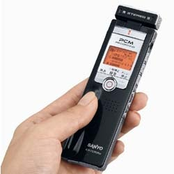 Sanyo's New Diply Talk Recorder Listens VERY Well