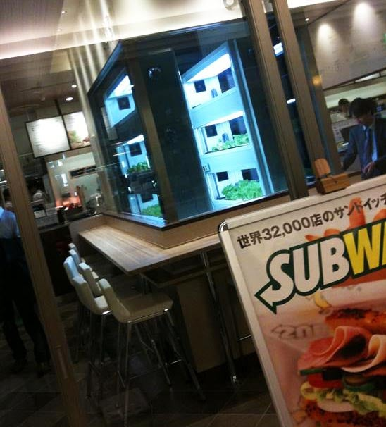 Japanese Subway Grows Its Own Hydroponic Lettuce