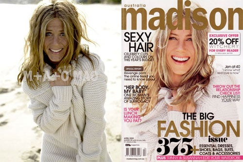 Jennifer Aniston Without Photoshop: Freckled!