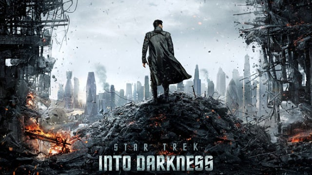 The Star Trek Into Darkness movie poster is here, and it's Cumberbatch-tastic