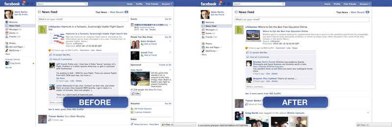 Minimalist Facebook Cleans Up Facebook's Interface