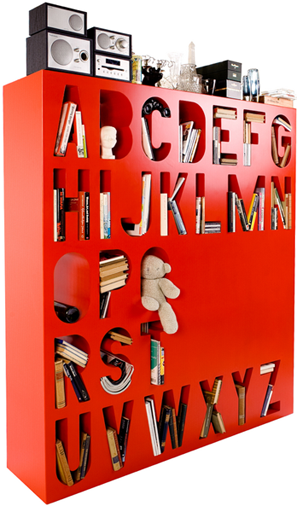 A Typography Geek's Dream Bookshelf