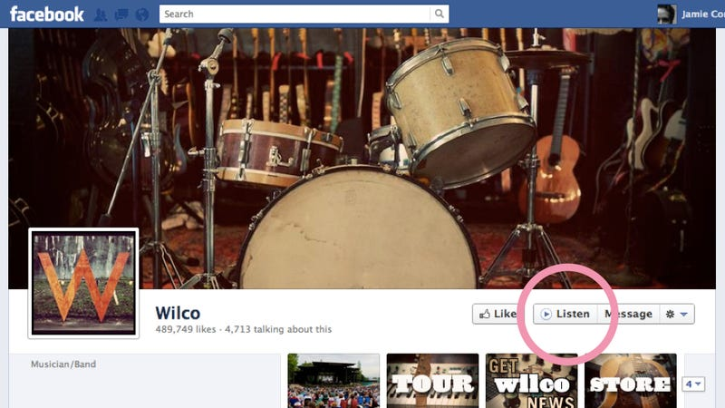 "New Facebook ""Listen"" Button Instantly Plays Musicians' Songs in Streaming Apps"