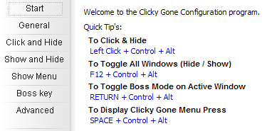 ClickyGone Customizes How You Hide Your Windows