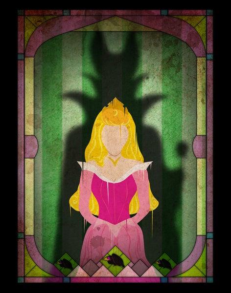In Art Prints, Disney Villains Menace as Shadows