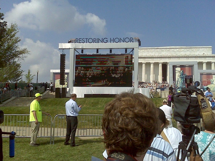 Glenn Beck's Rally Restores Honor, Boredom to the Masses