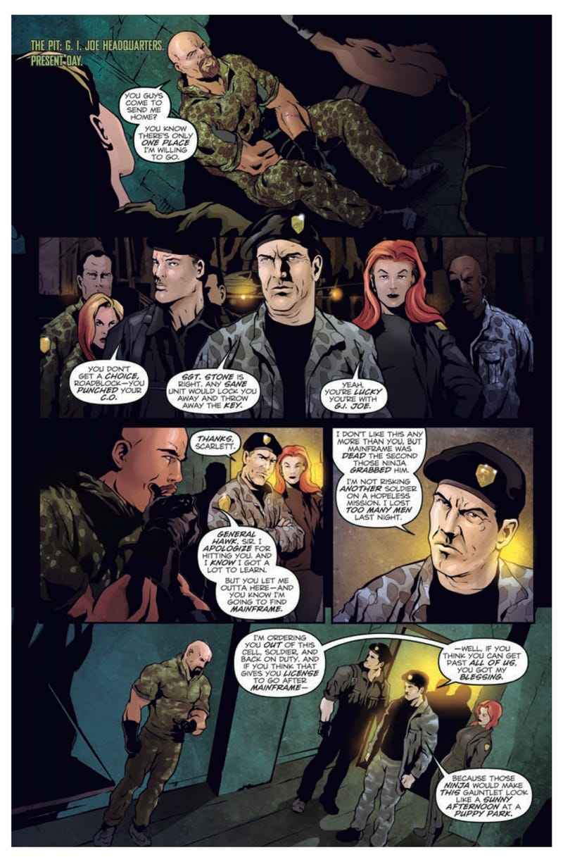 An exclusive sneak peek of the G.I. Joe 2 prequel comic book