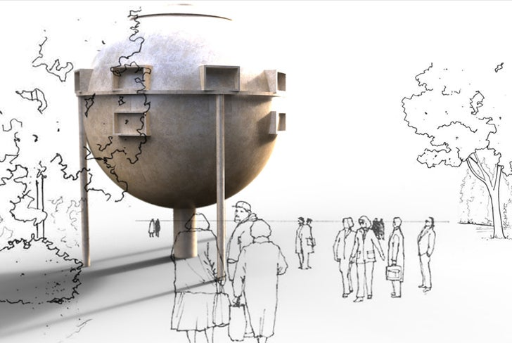 Pop-up orb city could house 10,000 people in six months