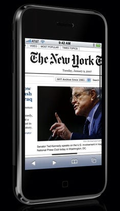 The iPhone Now Ready to Save The News Business
