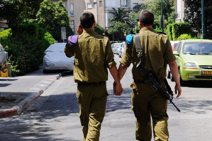 Israeli Military Celebrates Pride Month by Sharing 'Heartwarming' Facebook Photo of Gay Soldiers Holding Hands (UPDATE)