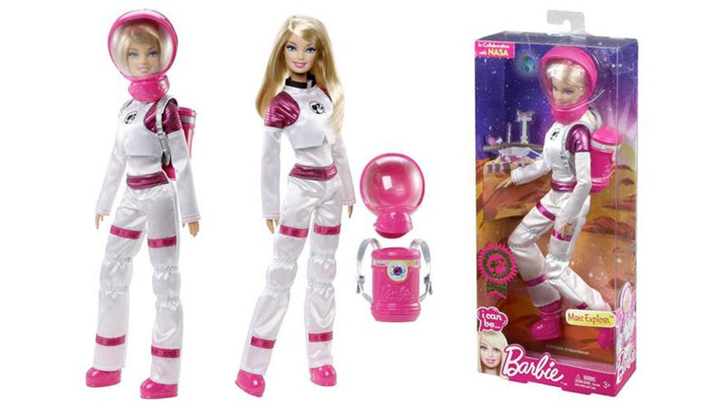 Mars Explorer Barbie Accessorizes With Pretty Pink Helmet and Rover