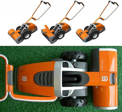 Three-in-One Lawn Care Device Mows, Throws and Blows