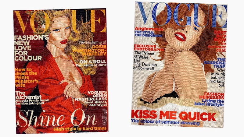 These Hand-Stitched Covers of Vogue Might Piss Anna Wintour Off