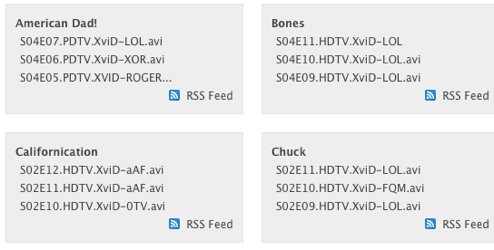 FeedMyTorrents Offers TV Torrent Feeds without Duplicates