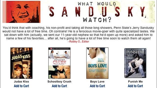 "Gay Video Company Runs ""Jerry Sandusky's Favorite Films"" Series"
