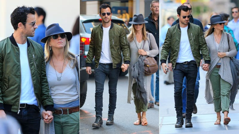 Justin Theroux and Jennifer Aniston in Nifty Shades and Gray
