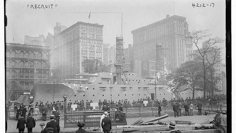 The Battleship That Took Over Union Square