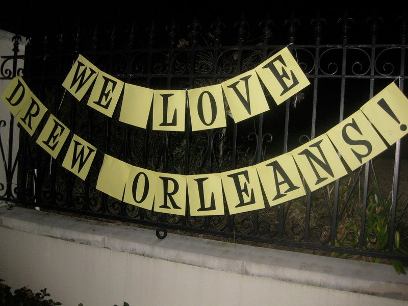 Enraptured Saints Fans Decorate Drew Brees' Home With 'Thank You' Shrine