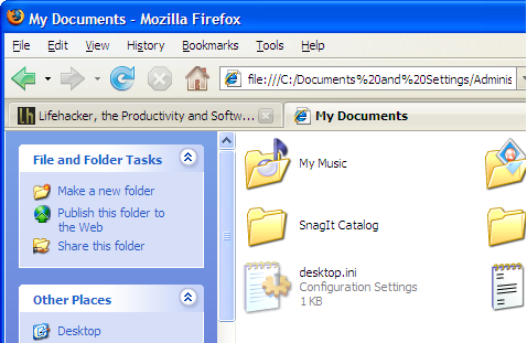 Use Firefox as a Windows file manager