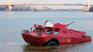 Amphibious Army Vehicles Are Working As Taxis In Russia
