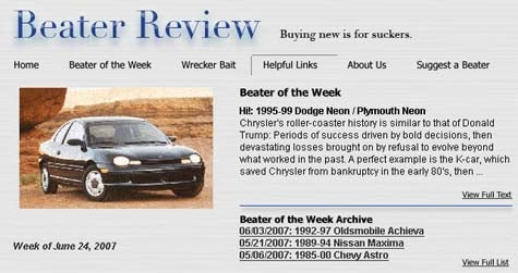 Beater Of The Week: You Want Cheap Car? We Know Cheap Car!