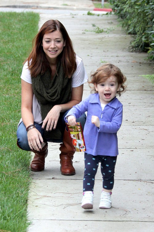 Alyson Hannigan's Mini-Me Hams It Up