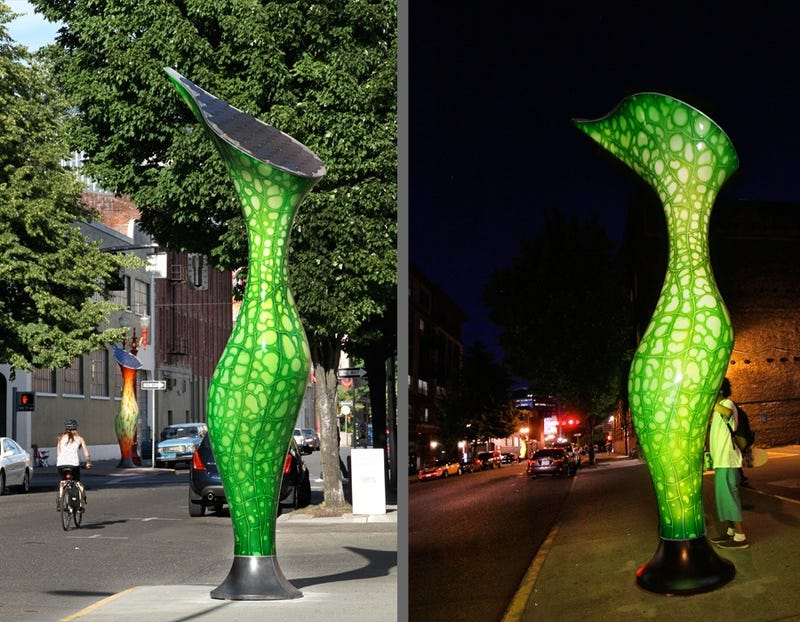 Portland's New Streetlights Are Psychedelic, Carnivorous Plants