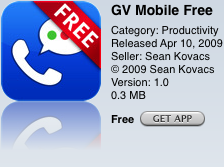 GV Mobile Makes Google Voice the Default for Your iPhone