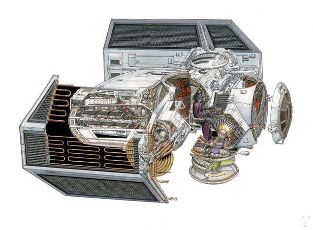 The amazing Star Wars vehicles and location cutaways by Hans Jenssen