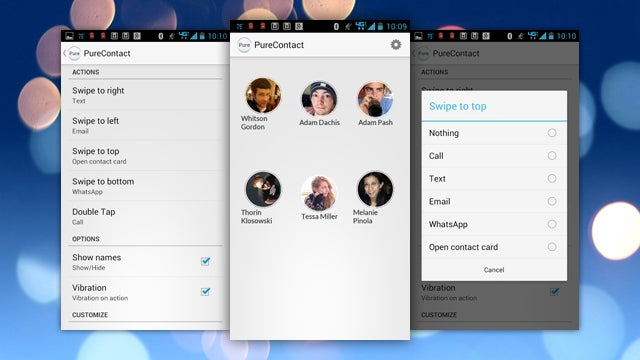 PureContact Is a Visual, Swipe-Driven Speed Dialer for Android