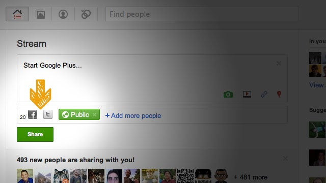 Start Google Plus Combines Google+ with Facebook and Twitter