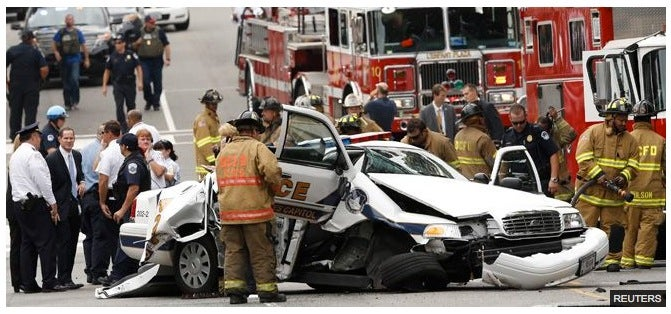 Captiol Cop Crash