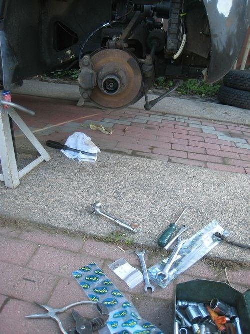 20R Sprite Brake Hose Replacement