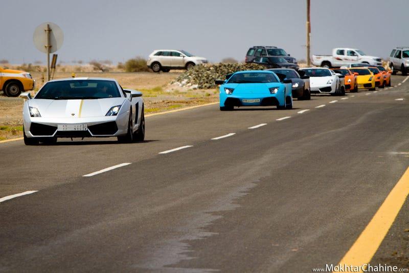 Lamborghinis and Planes in Saudi Arabia