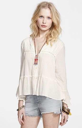 I FOUND THE PERFECT FLOUNCY WHITE BLOUSE!!!!