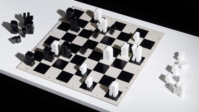 This Typographic Chess Set Is Too Pretty to Play