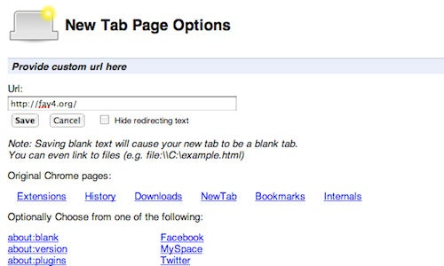 New Tab Redirect Turns Chrome's New Tab Page Into Any Page You Want
