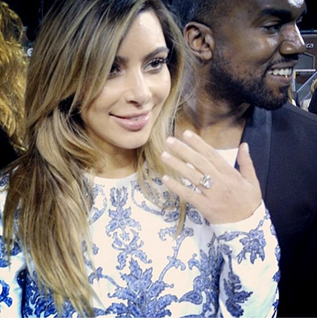 Kanye West Proposes to Kim Kardashian with a Ring the Size of Texas