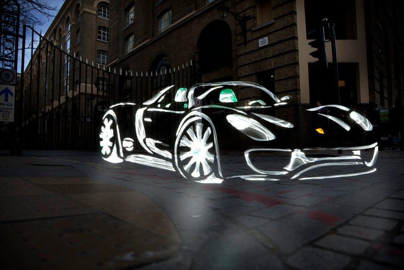 New London Light Graffiti Cars