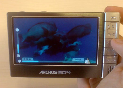 Archos 604 PMP Hands-On