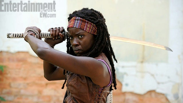 Your first look at katana-wielding Michonne from The Walking Dead