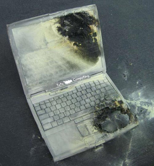 Man Burnt to Death by Exploding PC