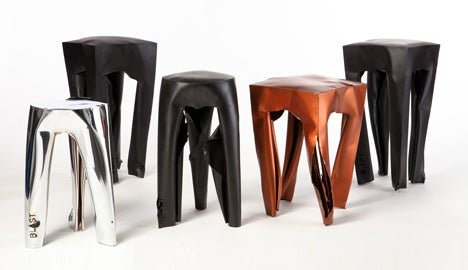 These Stools Were Made Using Explosions