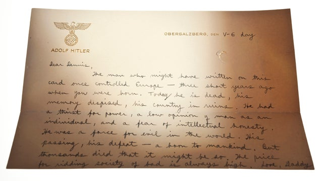 The Letter a CIA Chief Wrote to His 3-Year-Old Son on Hitler's Personal Stationery