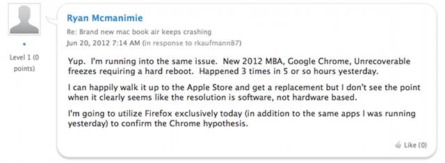New MacBook Air Crashing? Blame Google Chrome, Probably (Updated)