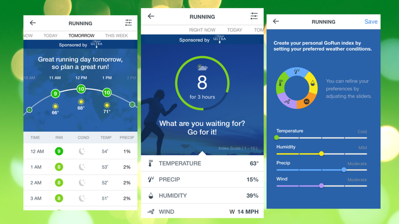 The Weather Channel App Now Tells You the Best Time to Go for a Run