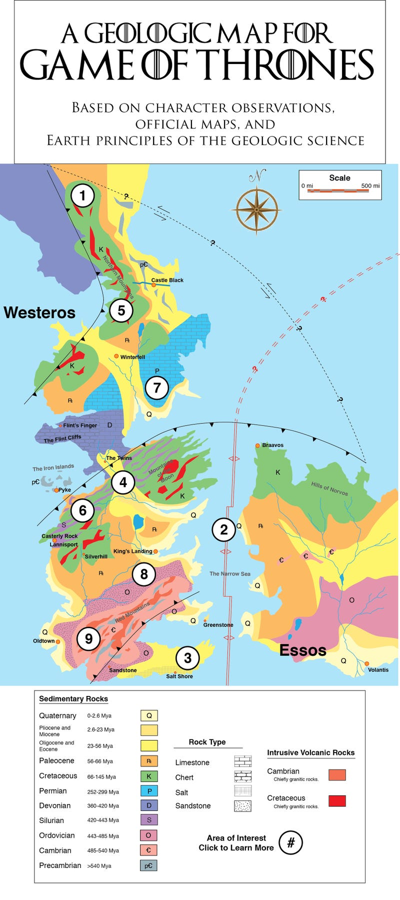 A Fantastically Detailed Geological History for Game of Thrones