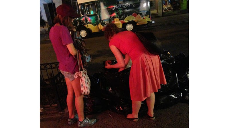 It Has Come to This: Ladies Digging in the Garbage for Cronuts