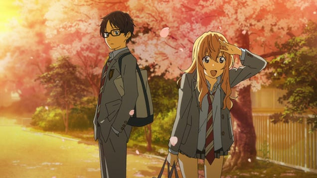 Image result for anime your lie in april